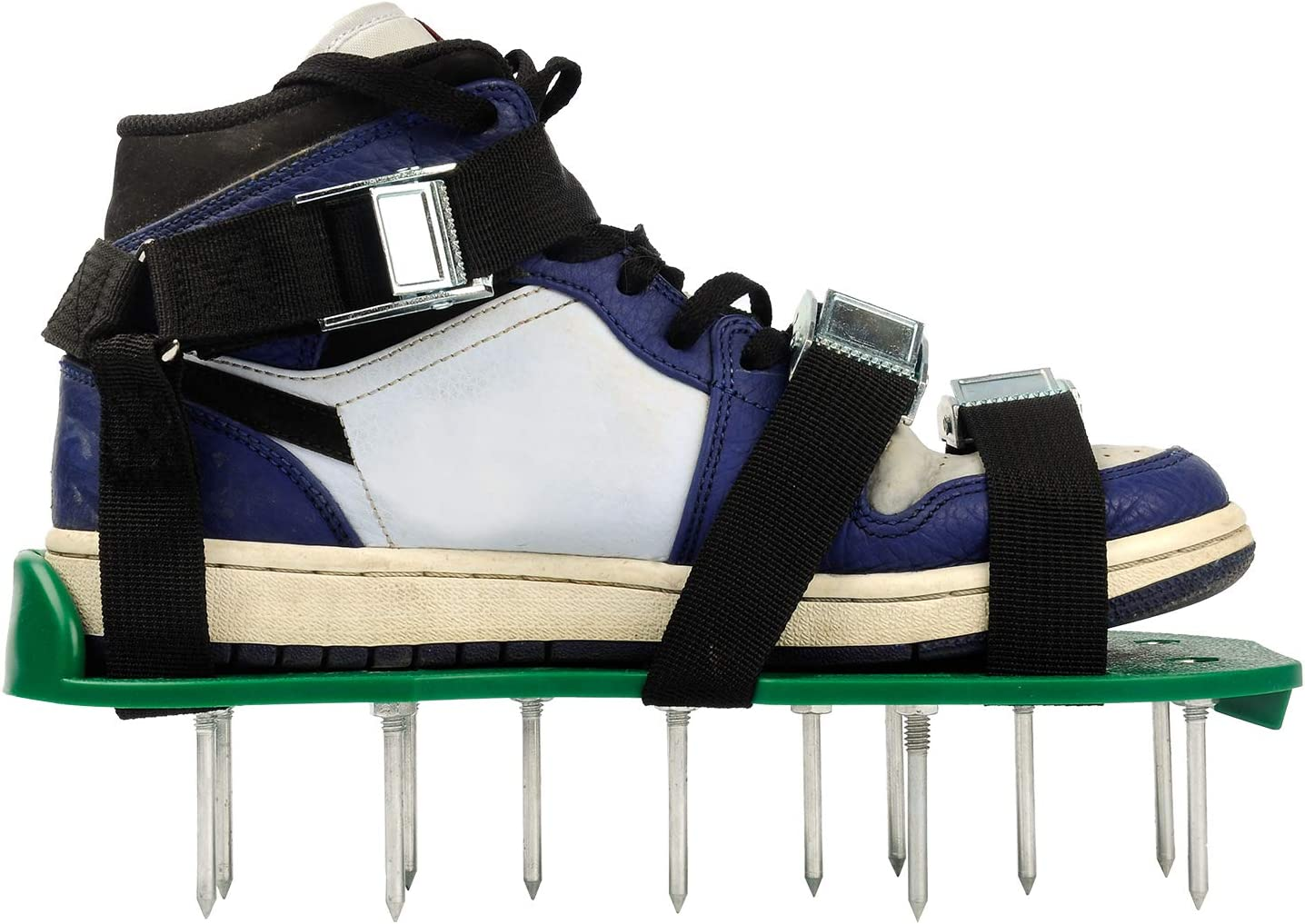 GRASSCLUB Lawn Aerator Shoes with 3 Unique Adjustable Straps and Heavy Duty Metal Buckles, Easier to Aerating Your Garden Yard or Lawn
