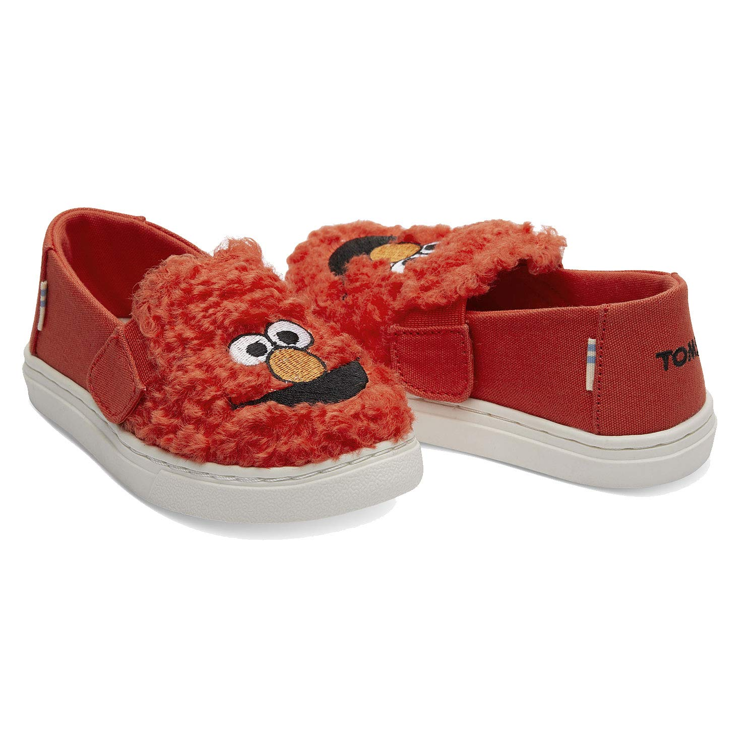 TOMS Sesame Street X Elmo Face Faux Shearling Tiny Luca Slip-Ons 10013649 (Size: 9) Red by TOMS (Image #2)