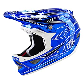 Troy Lee D3 compuesto coquización casco, casco, unisex, color Azul - Pinstripe Blue