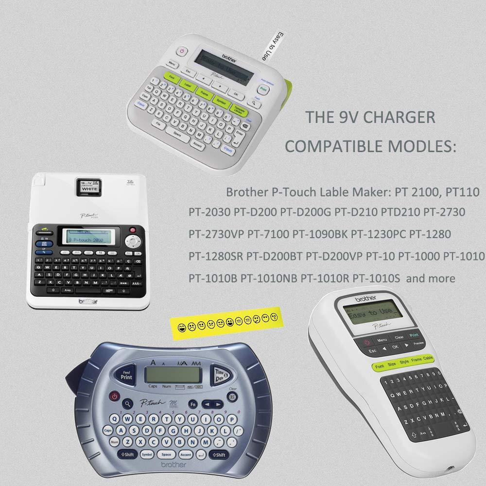 AC Adapter for Brother PT-1090 PT-1090BK PT-12 PT-D200 Label Maker Power Cord