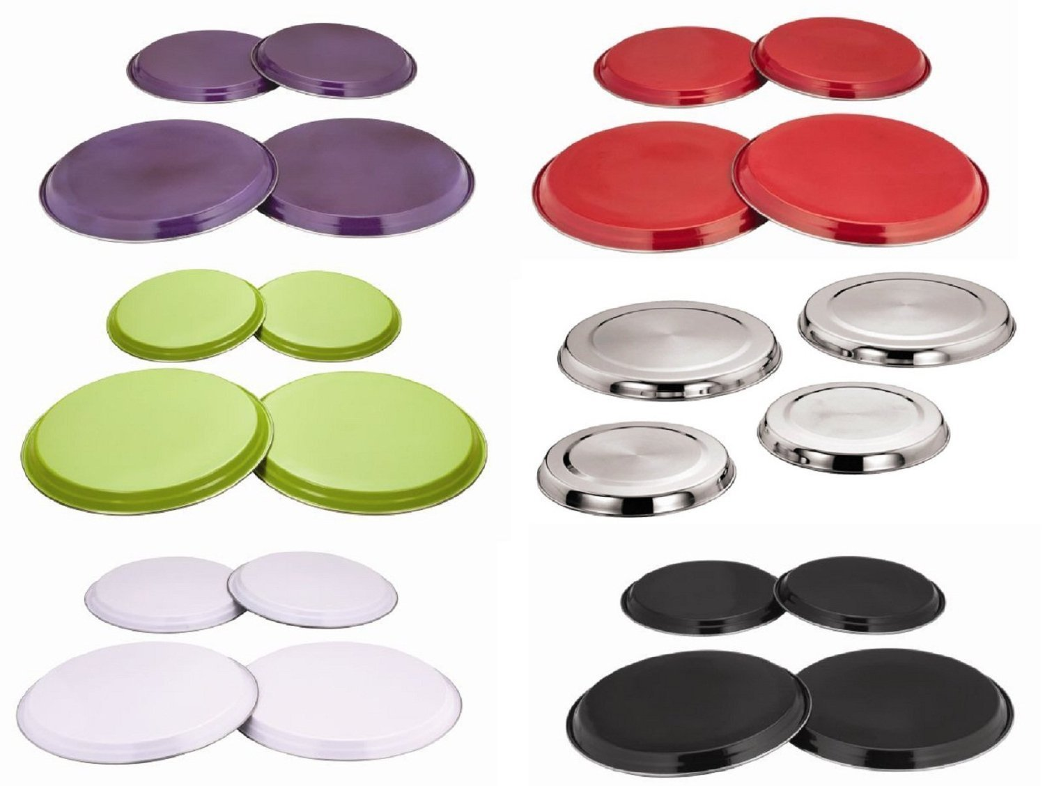 4pc STAINLESS STEEL GAS ELECTRIC COOKER OVEN HOB BURNER COVERS RINGS COVER PROTECTOR SET (PURPLE) Triple A Online Ltd