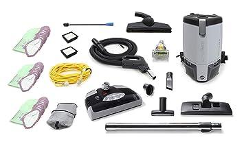 GV Aspirador dorsal comercial de 6 Quart Fs6 con una boquilla eléctrica Gris: Amazon.es