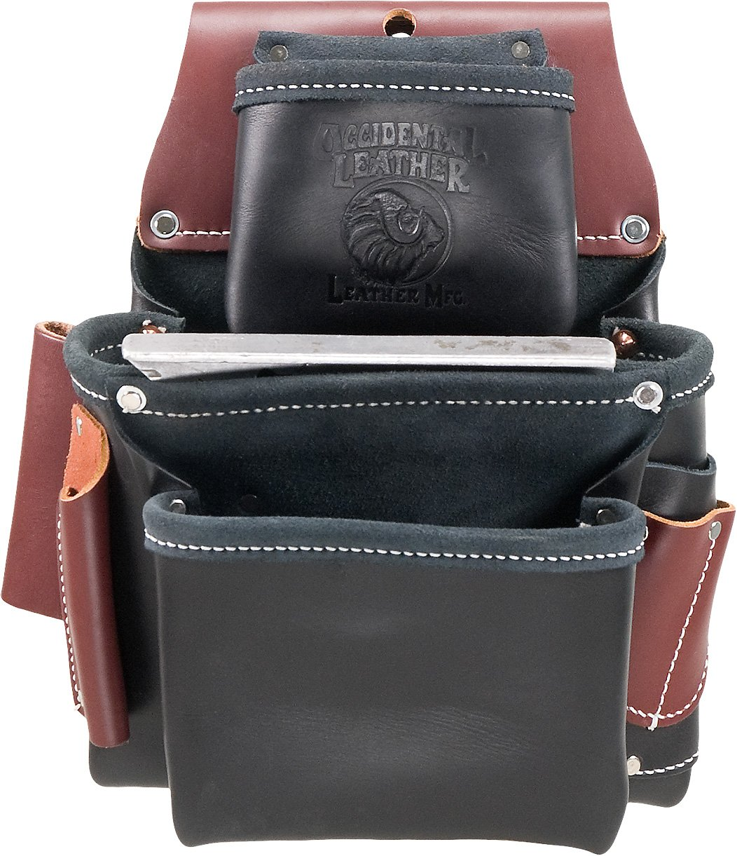 Occidental Leather B5060 3 Pouch Pro Fastener Bag Black