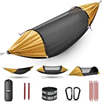 ETROL Hammock, Upgrade Double & Single Camping Hammock with Mosquito Net, Tree Straps, Hook, 3 in 1 Function Design…