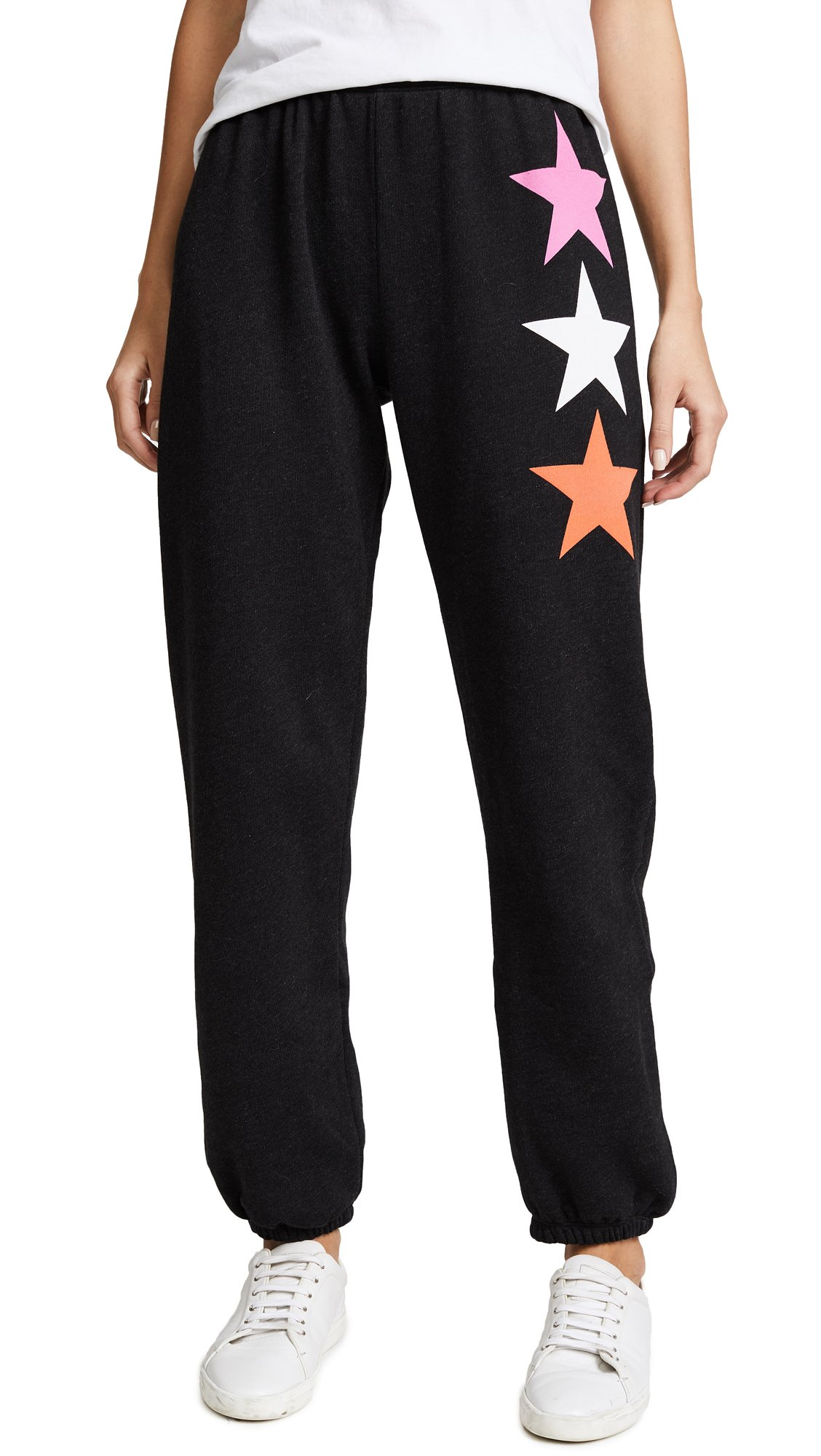 Wildfox Women's Arcade Star Easy Sweatpants, Heathered Black, Small