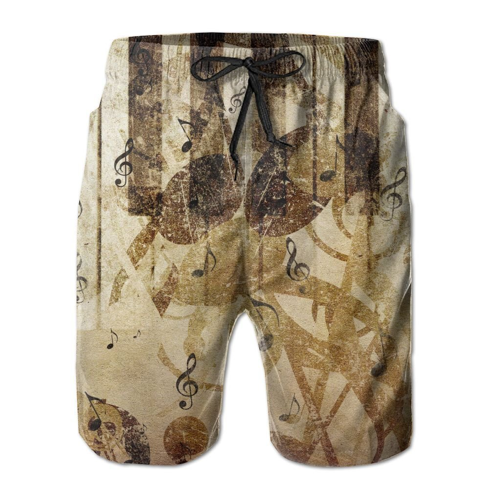 NGFF Music Concept Paint Piano Summer Casual Style Adjustable Beach Home Sport Shorts