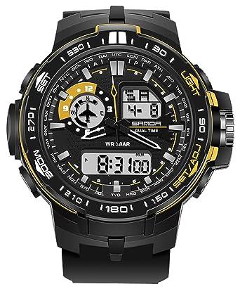 adcc9f9f62 腕時計 メンズ スポーツ デジアナ おしゃれ 人気ブランド ファション ビッグフェイス クロノグラフ 夜光 防水 [並行