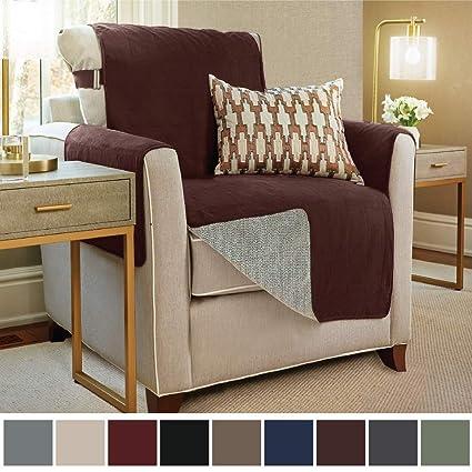 Gorilla Grip Original Slip Resistant Chair Slipcover Protector, Seat Width  Up To 23u0026quot; Suede