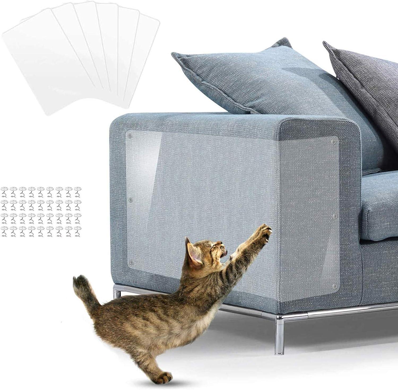 Protectores contra rayones para muebles,Protector Sofa Gatos,Protector de Muebles de Gato, Transparente con pasadores para Proteger Muebles tapizados, (6 Unidades): Amazon.es: Productos para mascotas