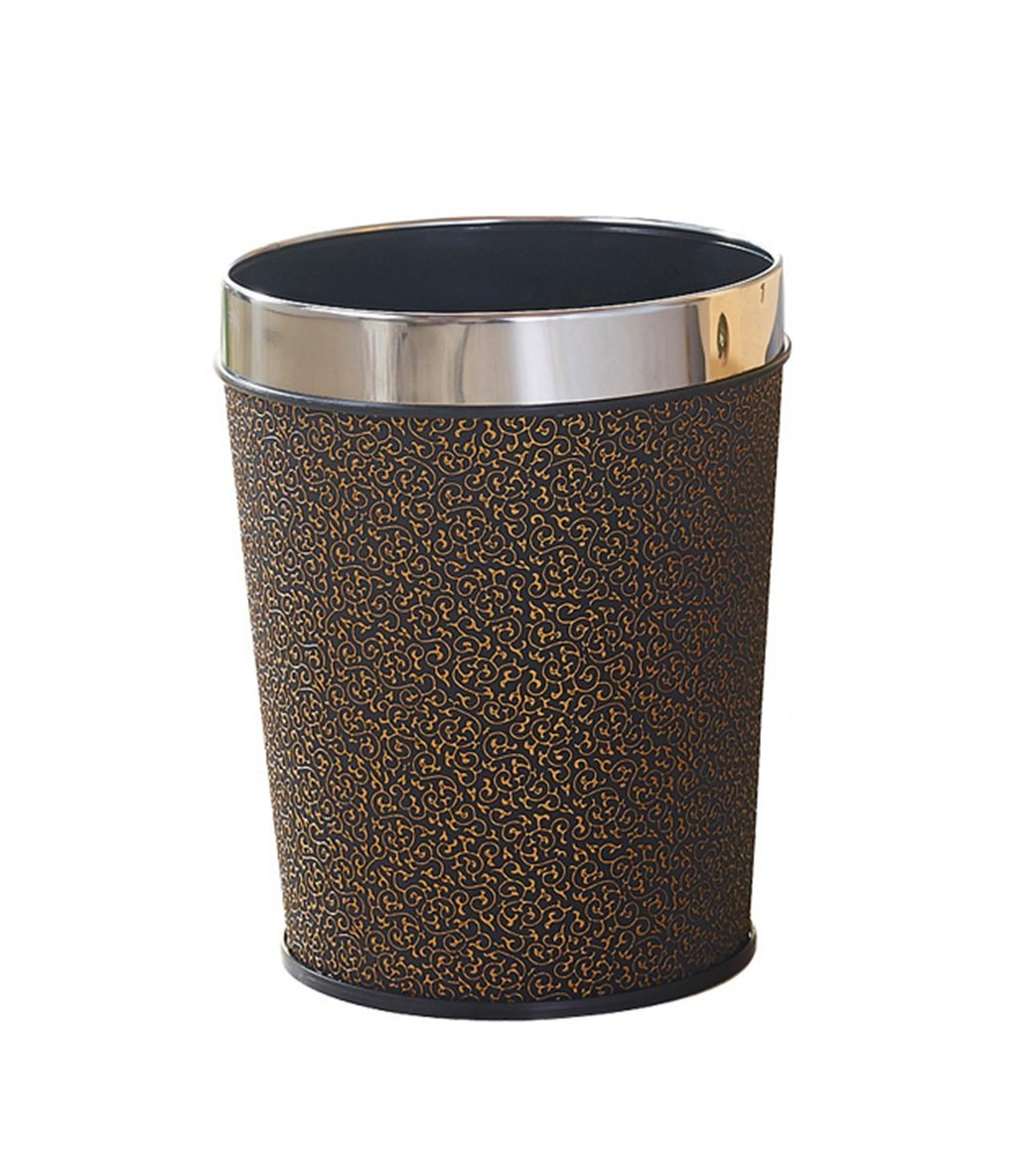 CSQ Without Cover Trash Can, Stylish Creative Trash Can Living Room Hotel Household Kitchen Bedroom Bathroom Plastic Trash Can 6-12L (Color : C, Size : 12L)