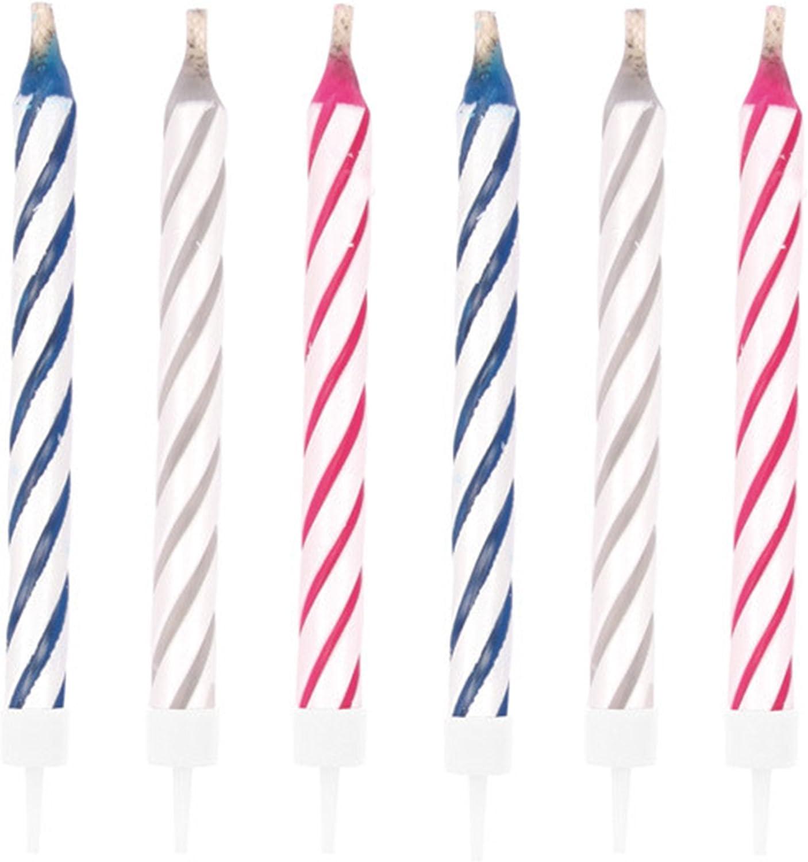 20 magische Kerzen Geburtstagkerzen inkl Halter Geburtstag Fest Feier Torte GAG