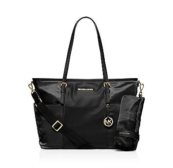 Michael Kors Jet Set Large Nylon Pocket Baby Diaper Bag (Black)