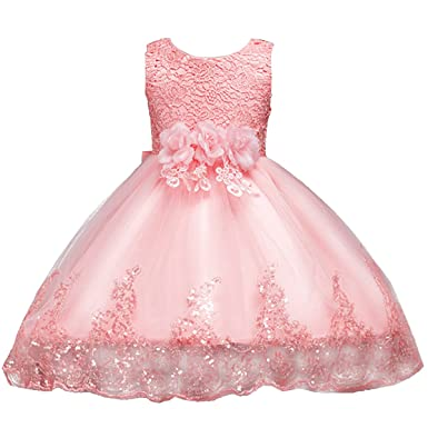 IWEMEK IWEMEK Mädchen Kinder Mit Kleider Blumenmädchenkleider ...
