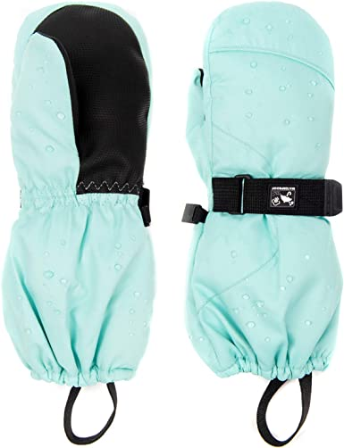 HIGHCAMP Toddler//Kids Snow/'s Up Ski Mittens Waterproof Easy On Stay On Gauntlet