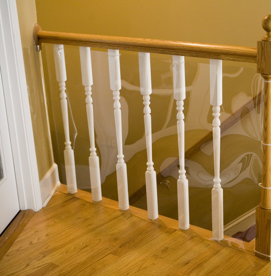 Amazon.com : Cardinal Gates Banister Shield For Pets, 15u0027 Roll Clear :  Banister Guard : Pet Supplies