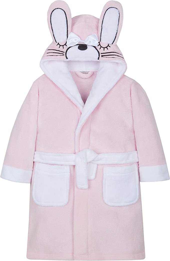 Minikidz Infant Girls Bunny Rabbit Dressing Gown with Hood