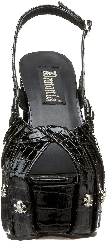 Pleaser Demonia by Women's Charade-30 Sandal B003HVJH4Y 8 US/Medium M US Black Crocodile Patent