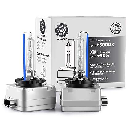 faros para coche paquete de 2 HID al xen/ón Xelord D3S Bombillas Xenon 6000 K blanco 12 V 35 W bombilla para faros