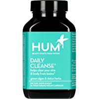 HUM Daily Cleanse Skin Supplement - Skin and Body Detox for Clear Skin with Organic Algae, 15 Herbs + Minerals - Supports Digestive Health, Liver Detox - Gluten Free (60 Vegan Capsules)