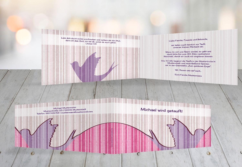 Kartenparadies Einladungskarte Taufeinladung Taufkarte Streifenharmonie, Streifenharmonie, Streifenharmonie, hochwertige Einladung zur Taufe inklusive Umschläge   100 Karten - (Format  215x105 mm) Farbe  OckerBeige B01MRBYNF5 | Guter Markt  | Garantiere Qualität und Quantität  | Sond a10492