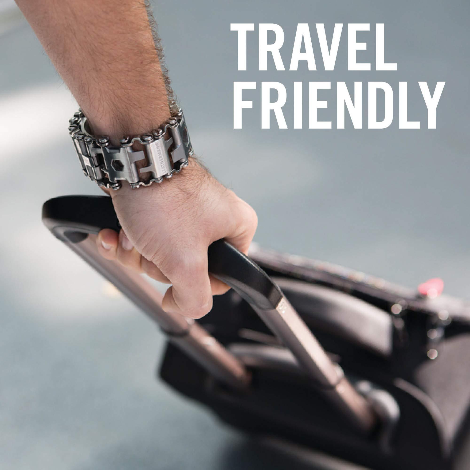 LEATHERMAN - Tread Bracelet, The Original Travel Friendly Wearable Multitool, Black by LEATHERMAN (Image #5)