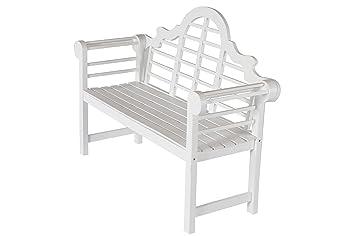 AuBergewohnlich Villana Gartenbank, Holz, Weiß, 180 X 90 X 84 Cm
