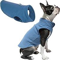 """Gooby 72106 Chaqueta de forro polar con anillo de correa para perros pequeños, Azul, X-Small chest (~10"""")"""