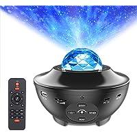 Star Projector Night Light, LUXONIC Ocean Wave LED Starry Night Light Projector Built-in Bluetooth Speaker Sound Sensor…