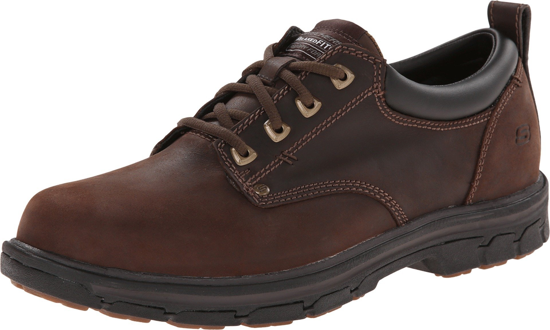 Skechers Men's Segment Rilar Oxford, Brown, 10 H(M) US by Skechers