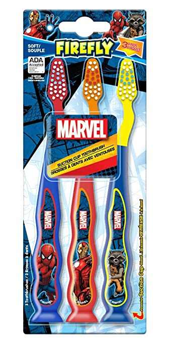 Amazon.com: Firefly Spiderman Kids Soft Toothbrushes, 2 Count (Pack of 6): Beauty