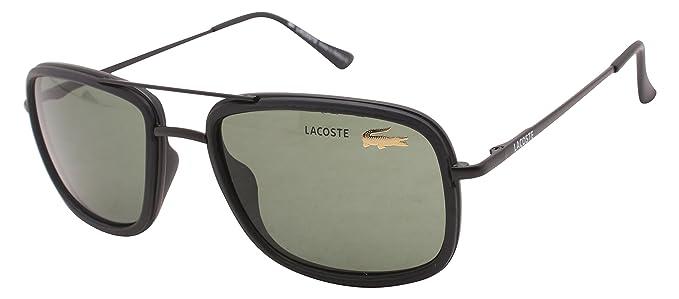 eb18131efd0 Onnet Rectangle Black Metal Lacoste Replica Unisex Sunglasses (BB346 ...
