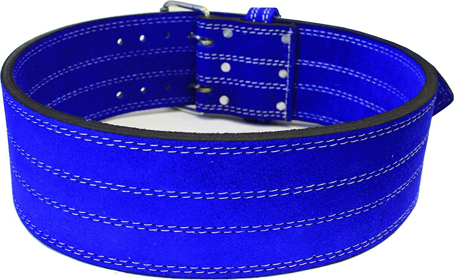 Ader Leather Power Weight Lifting Belt- 4 Blue Medium