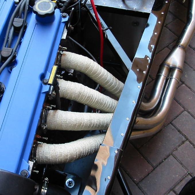 10 m escape de fibra de vidrio protección Pipe Cabecera Turbo Wrap ...