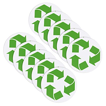Hestya 10 Pack Recycle Symbol Decals Recycling Symbol Sticker For