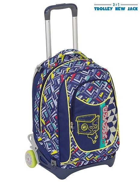 beaafa48d8 TROLLEY SEVEN NEW JACK - WIDGET - Blu - SGANCIABILE e LAVABILE - Scuola e  viaggio