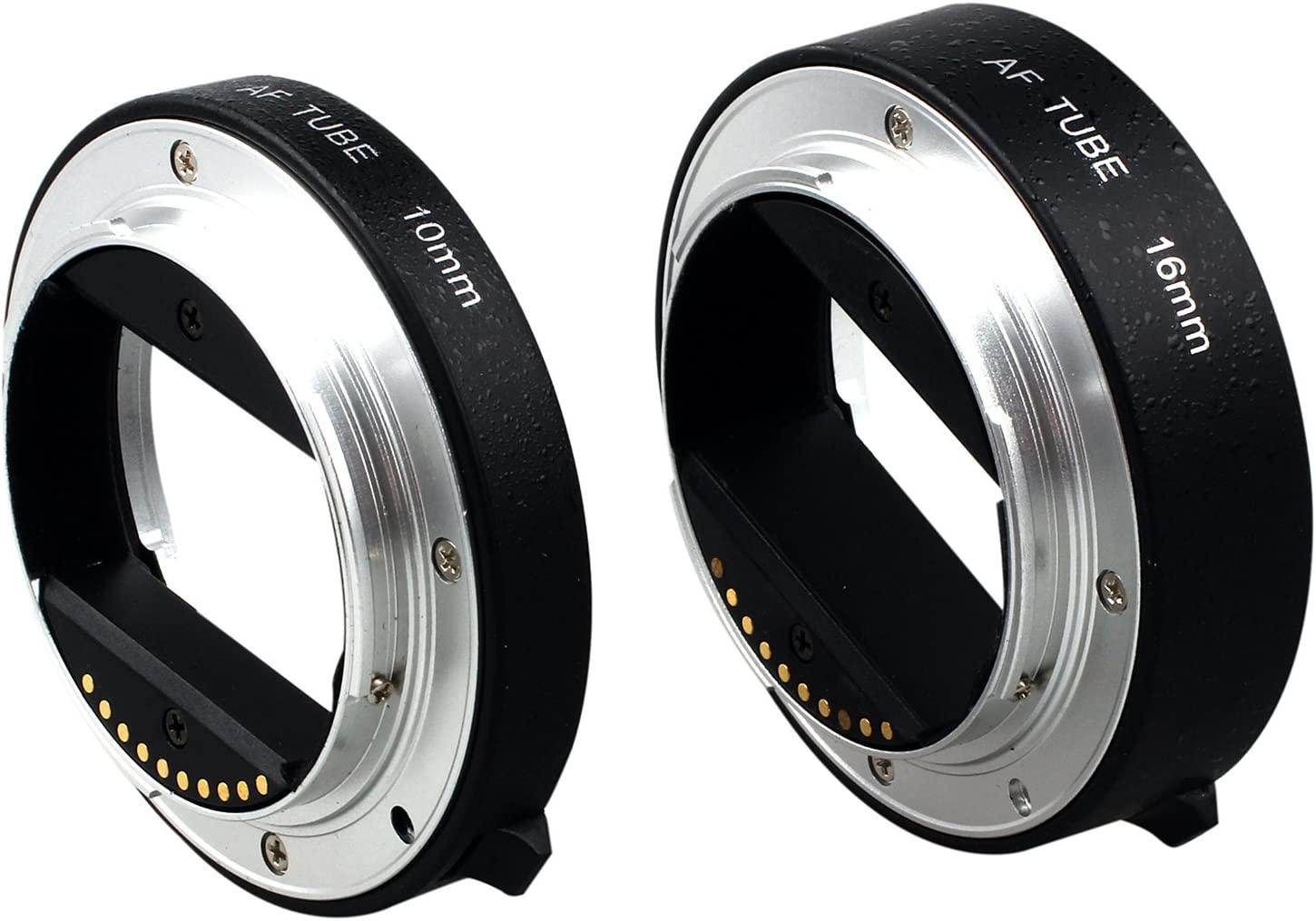 Vaorwne Black Metal AF Auto-Focus Macro Extension Tube Set 10mm/&16mm for NEX E-Mount Camera NEX 3//3N//5//5N and Full Frame A7 A7S//A7SII