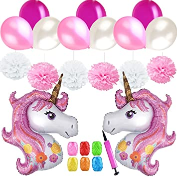 Mattelsen Rose Decoración de Cumpleaños Niñas, Globos ...