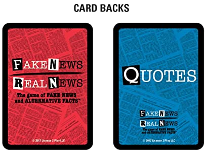 Details about Fake News / Real News Card Game Washington Edition Buy 1 Get  1 50% OFF Trump!