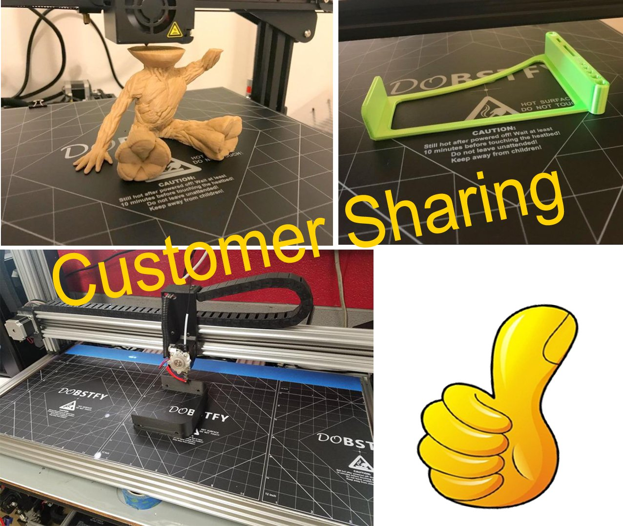 Pack of 4 - More 3D Print Platform of 8x8 // 235mm x 235mm // 16x16 for Choosing! 12x12 3D Printer Heat Bed Platform Sticker Sheet Square 3D Printing Build Surface