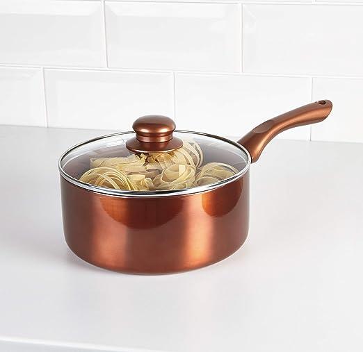 Juego de cacerolas y sartenes de cobre Cermalon 20cm Copper ...