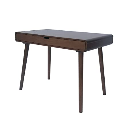 Great Deal Furniture 304647 Rex Mid Century Wood Writing Desk in Medium Brown,