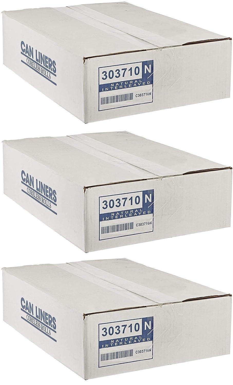 Spectrum CP303710N HDPE 業務用ゴミ箱ライナー 容量20-30ガロン 長さ37インチ×幅30インチ×厚さ10ミクロン ナチュラル 3 Case of 500 B07G878983  3 Case of 500