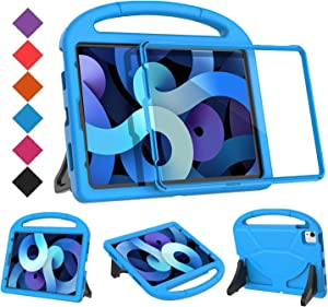BMOUO iPad Air 4 Case for Kids, iPad Air 4th Generation Case,iPad 10.9 Case, Built in Screen Protector, Shockproof Light Weight Handle Stand Case for New iPad Air 4 2020/iPad 10.9/iPad Pro 11 - Blue