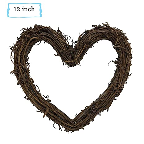 Christmas Heart Wreath.Heart Shape Natural Grapevine Wreath Ring Wreath Diy Craft Vines For Christmas Wreath Door Garland Wedding Party Home Decoration Hanging Wreath