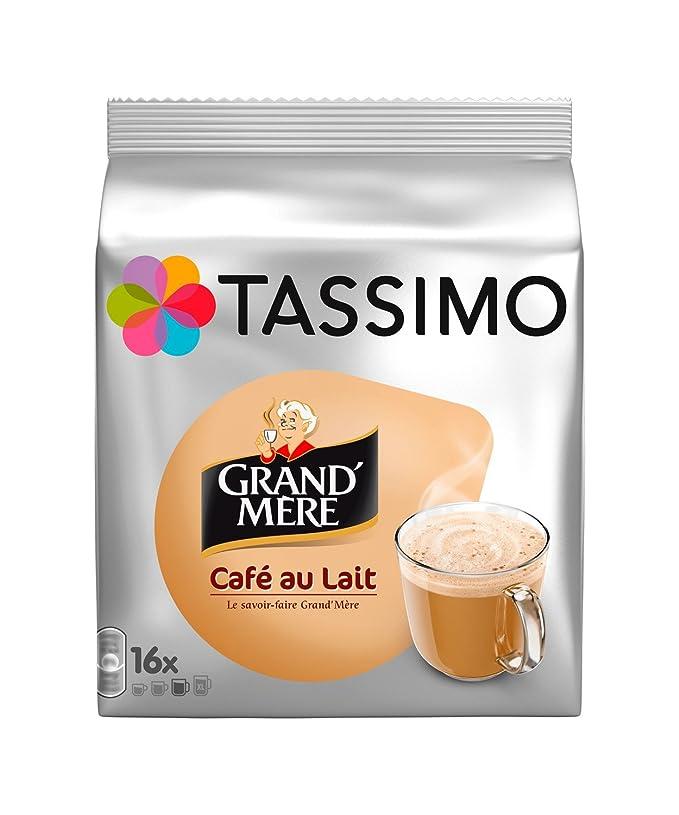 TASSIMO Café au lait 16 Tdisc - Pack de 5 (80 Tdisc)