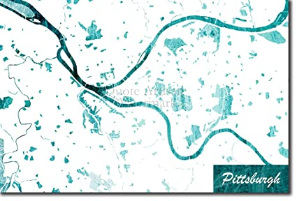 Pennsylvania In Usa Map.Amazon Com Best Quality Prints Pittsburgh Pennsylvania Usa
