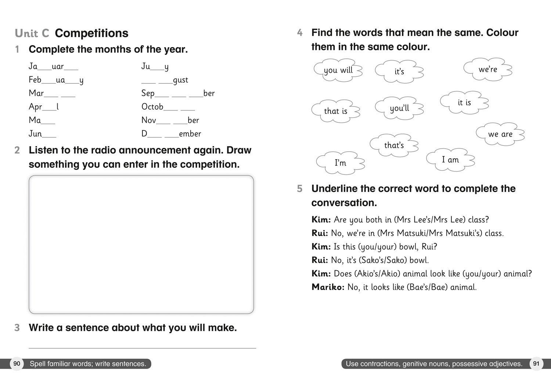 Cambridge Primary English as a Second Language Workbook: Stage 2 (Collins International Primary ESL)