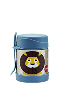 3 Sprouts Stainless Steel Food Jar and Spork for Kids, Lion