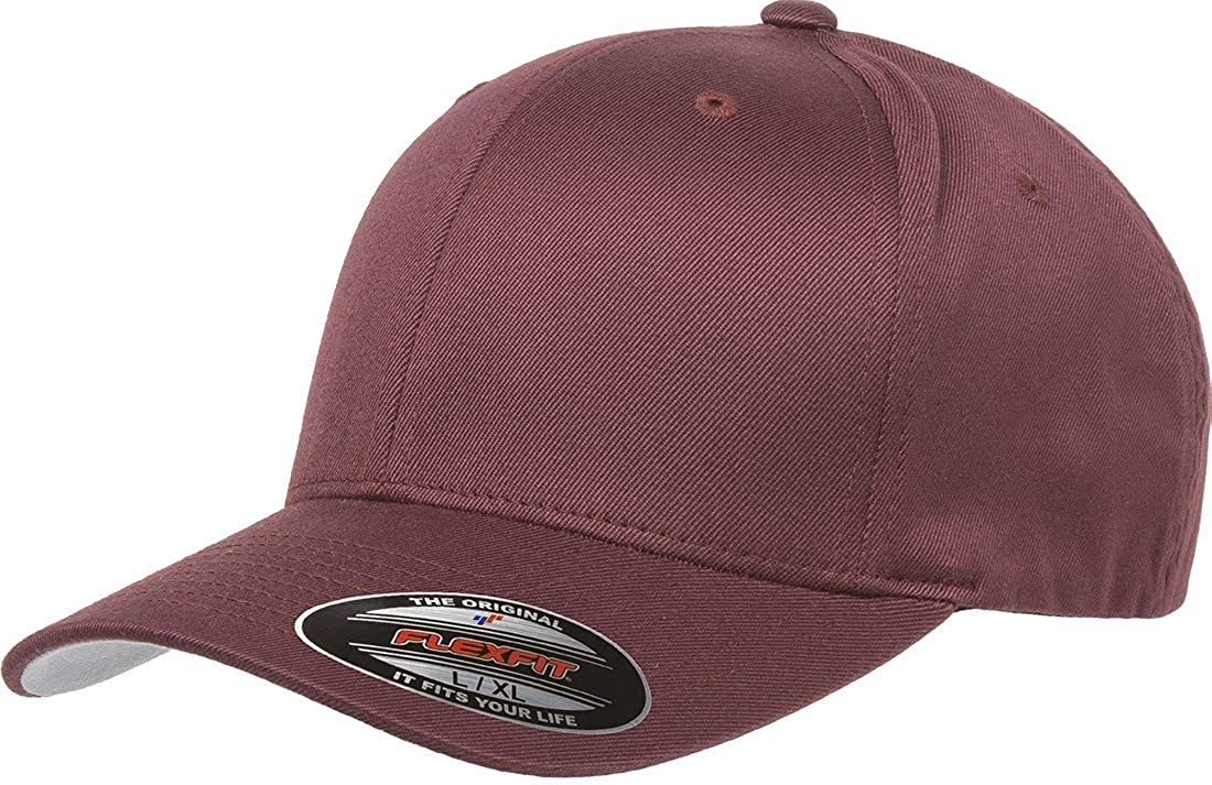 Flexfit Men's Athletic Baseball Fitted Cap, Maroon, Large/X-Large
