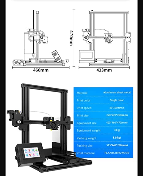 ALWAYZZ XY-2 Impresora 3D 4020 Perfil de Aluminio de 3,5 Pulgadas ...